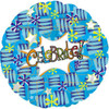 "18"" Celebrate! Blue Mylar Foil Balloon"