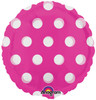 "18"" Dots Pink (MagiColor) Mylar Foil Balloon"