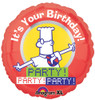 "18"" Dilbert Birthday Party Mylar Foil Balloon"