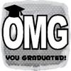 "18"" OMG You Graduated Mylar Foil Balloon"