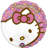 "18"" Hello Kitty Birthday Dots Mylar Foil Balloon"