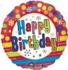 "18"" Bright Birthday Mylar Foil Balloon"