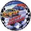 "18"" Birthday Stock Car Mylar Foil Balloon"