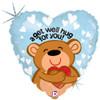 "18"" Get Well Big Hug Mylar Foil Balloon"