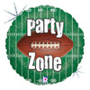 "18"" Party Zone Football Mylar Foil Balloon"