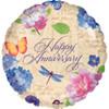 "18"" Garden Anniversary Mylar Foil Balloon"