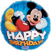 "18"" Mickey Mouse Happy Birthday Blue Mylar Foil Balloon"