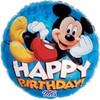 "18"" Mickey Mouse Happy Birthday Blue Mylar Foil Balloon"