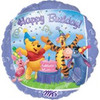 "18"" Winnie the Pooh & Friends Birthday Mylar Foil Balloon"