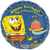 "18"" Spongebob Squarepants Birthday Mylar Foil Balloon"