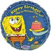 "18"" Spongebob Squarepants Birthday Mylar Foil Balloon"