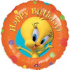 "18"" Tweety Bird Birthday Mylar Foil Balloon"