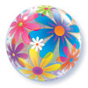 "22"" Fanciful Flowers Bubble Balloon"