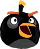 """23"""" Angry Birds Black Shape Mylar Foil Balloon"""