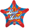 "18"" Best Dad Starbright Mylar Foil Balloon"