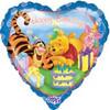 "18"" Winnie The Pooh Happy Birthday Heart Mylar Foil Balloon"