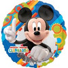 "18""  Mickey Mouse Gear Pattern Mylar Foil Balloon"