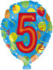 "18"" Balloon Shaped ""5"" Mylar Foil Balloon"