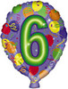 "18"" Balloon Shaped ""6"" Mylar Foil Balloon"