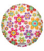 "18"" Decorative Flowers Mylar Foil Balloon"