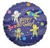 "18"" Space Kids Happy Birthday Mylar Foil Balloon"