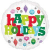 "18"" Happy Holidays Ornaments Mylar Foil Balloon"