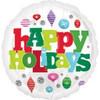 "18"" Happy Holidays Ornaments Mylar Foil Balloon"