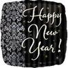 "18"" Happy New Year's Black Mylar Foil Balloon"