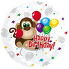 "18"" Monkey Around Birthday Mylar Foil Balloon"