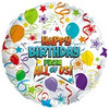 "18"" Happy Birthday From All of Us Mylar Foil Balloon"
