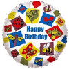 "18"" Party Bugs Happy Birthday  Mylar Foil Balloon"