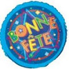 "18"" Blue Bonne Fete Mylar Foil Balloon"