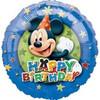 "18"" Mickey Mouse Stars Boarder Birthday Mylar Foil Balloon"