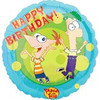 "18"" Phineas & Ferb Happy Birthday Mylar Foil Balloon"