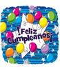 """18"""" Feliz Cumpleanos Mylar Foil Balloon"""