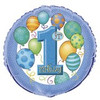"18"" First Birthday Blue Mylar Foil Balloon"