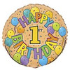 "18"" Happy Birthday Festive 1st Mylar Foil Balloon"
