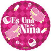 "18"" Es Una Nina Sheep Spanish Mylar Foil Balloon"