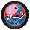 "18"" 50's Rock & Roll Mylar Foil Balloon"