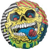 "18"" Mad Balls Skull Face Mylar Foil Balloon"