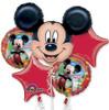 5 Balloon Mickey Mouse Birthday Balloon Bouquet Combo Mylar Foil Balloon