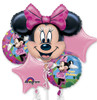 5 Balloon Minnie Mouse Birthday Balloon Bouquet Combos
