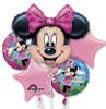 5 Balloon Minnie Mouse Birthday Balloon Bouquet Combos