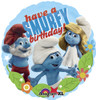 "18"" Smurfs Birthday Mylar Foil Balloon"