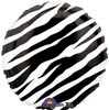 "18"" Zebra Black Mylar Foil Balloon"