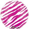 "18"" Zebra Pink Mylar Foil Balloon"