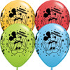 "11"" Mickey Mouse Happy Birthday Assortment Latex Balloons"