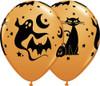 "11"" Fun & Spooky Icons Latex Halloween Balloons"