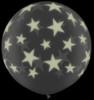 "36"" (3') Glow in the Dark Stars-A-Round (Halloween) Latex Balloon"