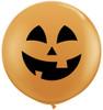 """36"""" (Three Foot) Jolly Jack Pumpkin Halloween Latex Balloon"""